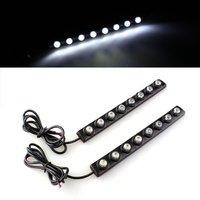 10x) 2x2 Watt SMD 5050 Weiß 8 LED Tagfahrlicht Lampe Licht DRL Nebel Auto Truck Driving