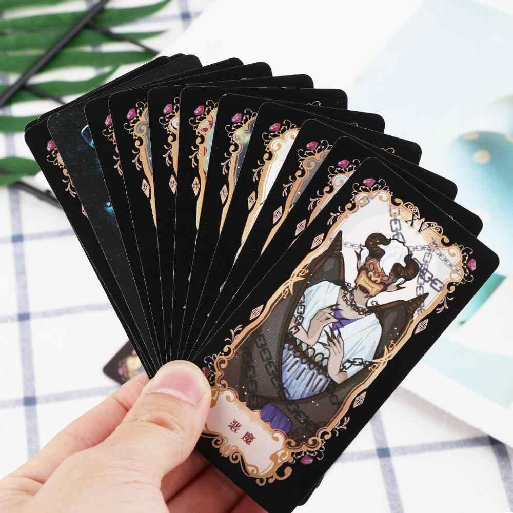 Baralho de cartas de tarô estudante, com caixa colorida e misteriosa divinação astrologia