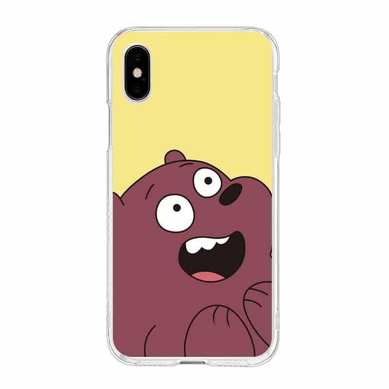 Разноцветный мягкий прозрачный ТПУ чехол для телефона с изображением поросенка панды медведя для iPhone 6 6S Plus 7 7Plus 8Plus iPhone X 5S 4S C057