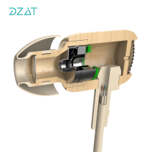 DZAT DF10 In ear Earphone Wooden Headset for Mobile Phone fone de ouvido Wired Headset with Microphone