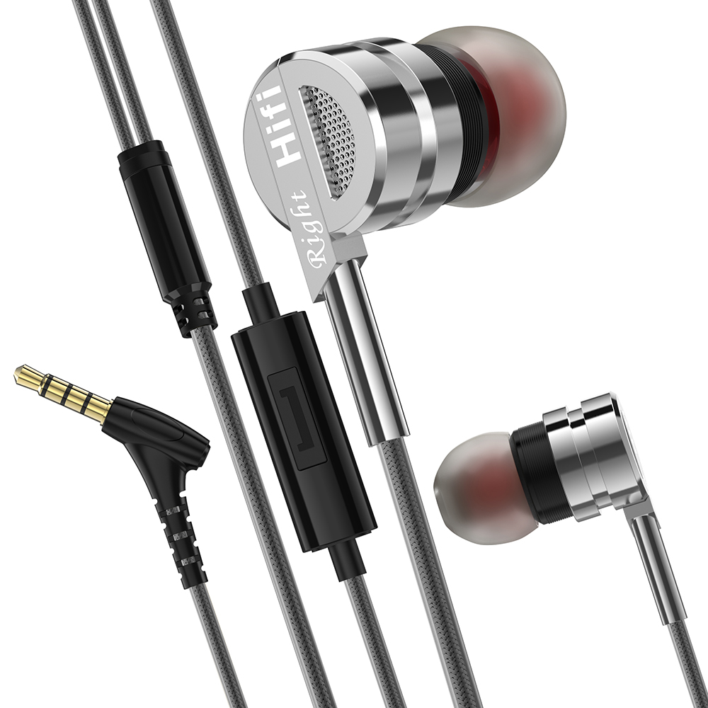 PTM Official D05C In-ear Earphone Super Bass Stereo Sound Metal Headset with Mic For Mobile Phones fone de ouvido audifonos