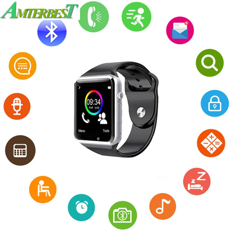 AMTERBEST A1 Wireless Bluetooth Smart Watch With Carema And SIM TF Card Slot Sleep Monitor For Women Men Kids Boys Girls