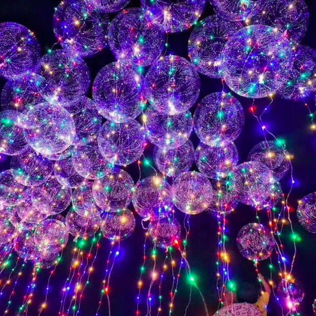 Festive Decorative Round Shaped Transparent LED Balloon