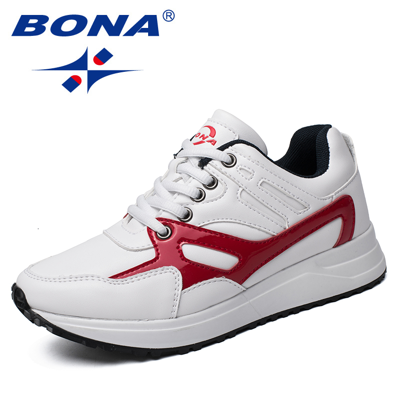 BONA New Arrival Typical Style Women Running Shoes Outdoor Jogging Sneakers Lace Up Lady Athetic Shoes Light Fast Free Shipping