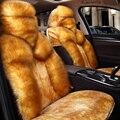 5D Nova almofada de Lã All-inclusive tampa de assento Do Carro Do Inverno Tampa de Assento, Assento Estilo Do Carro Capas Para Toyota Ford H Sedan