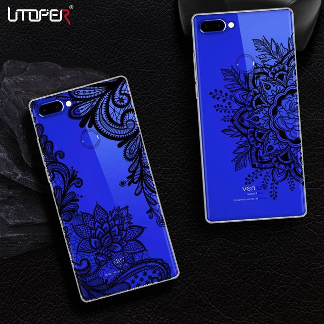 UTOPER Lace Mandala Flower Phone Case For Vernee Mix 2 Case For Vernee Mix 2 6.0 Case Silicone Transparent Cover For Vernee Mix2