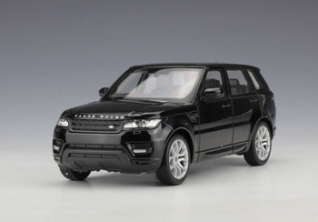 welly 1:24 land rover sport negro diecast modelo deportes racing suv