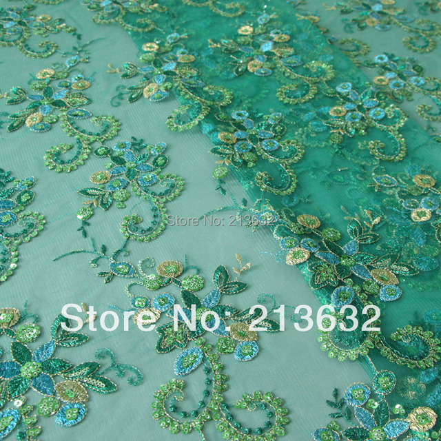 Poz24 Professional Textile Fabric Sequins Embroidery Fabric Spot