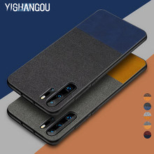 YISHANGOU Cloth Case For Huawei P20 Lite Case Soft TPU Edge Leather Cover For Huawei P30 Mate 20 Honor 8X Y6 Y9 Mate 10 20 Shell(China)