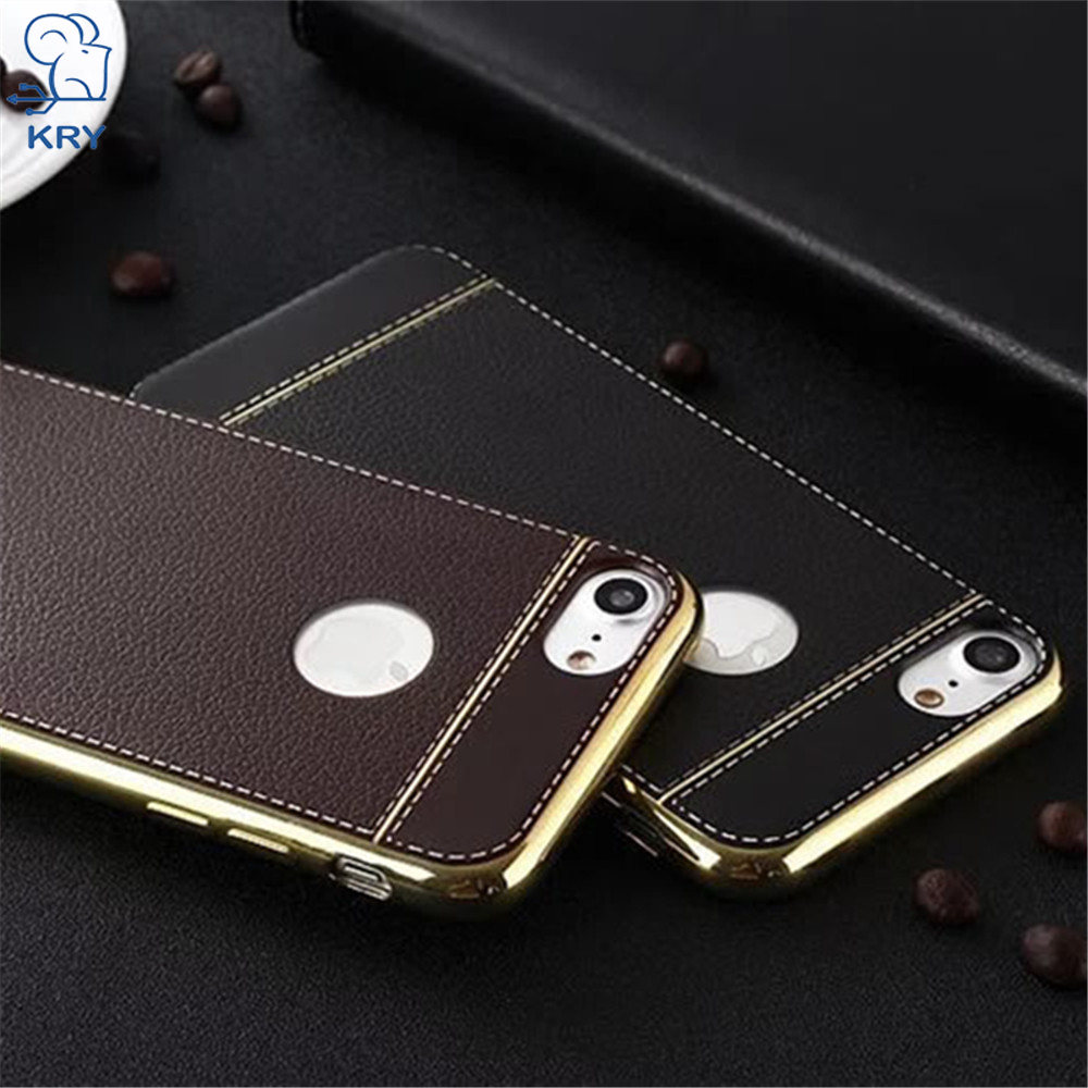 KRY Litchi Grain Phone Cases For iPhone 5 Case 5S SE Luxury TPU Protective Cover For iPhone X Case 7 6 6S 8 Plus Cases Capa