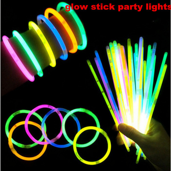 100pcs High Quality  Multi Color Glow Stick Party Light Bracelets Glowsticks Light Stick,Chiristams Gift ,Free Shipping
