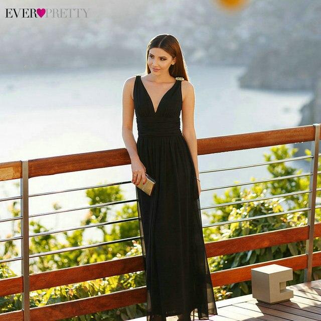 Formal Evening Dresses EP09016 2018 Ever Pretty 14 Colors Sexy A-line  Double V Neck 6fddec68f2e2