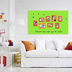 Flessibile ferrosi Tenere magneti Lavagna Bambini Tavolo Da Disegno Bordo di Scrittura Graffiti di Colore Verde Ufficio Scuola Casa Della Decorazione Della Parete Adesivi