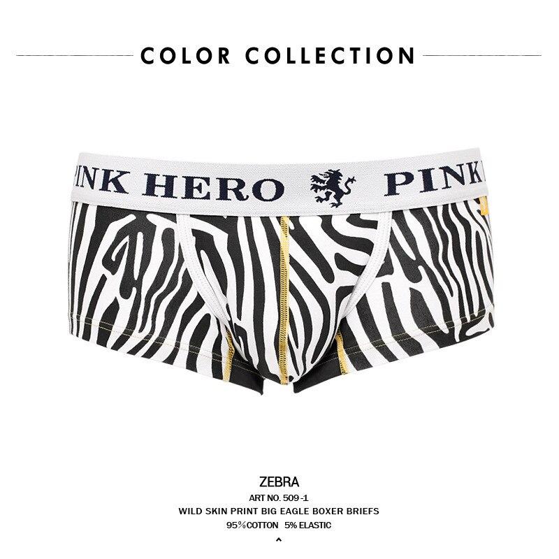 Rosa Hero Sexy Boxershorts Zebra Leopard Baumwolle Tier Korn Männliche Höschen Unterhose Herren Unterwäsche Boxer Boxer Boxershort Männer Vertrieb Von QualitäTssicherung Herren-unterwäsche Boxer