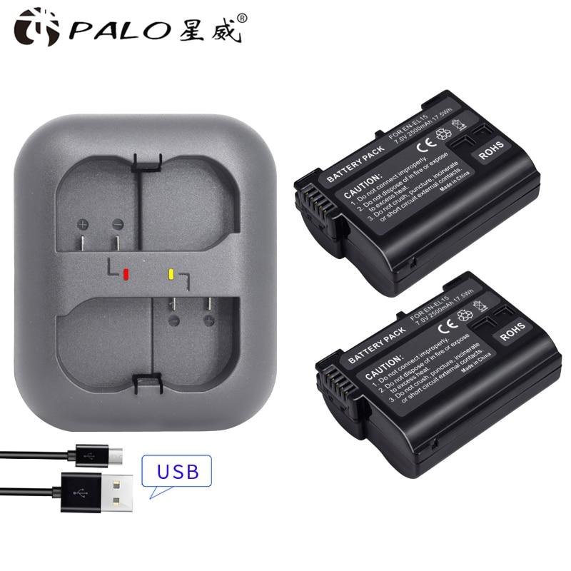 Streng Palo 2 Stücke Kamera Batterie En-el15 Enel15 El15 Digital Batterie Für Für Nikon D500 D610 D750 D7000 D7100 D7200 Mit Ein Ladegerät D600
