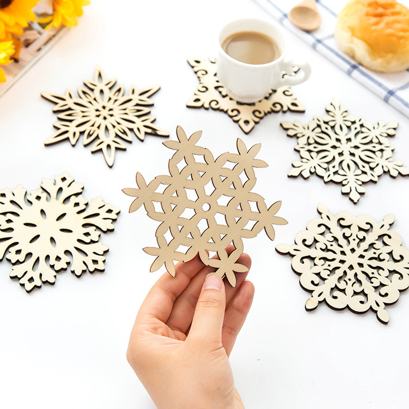 Skup 6 Sztuk Nowa Kuchnia Akcesoria Drewniane Coaster