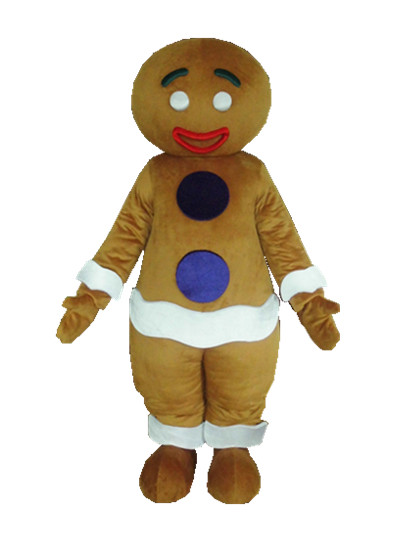 gingerbread man mascot costume for adult new Christmas gingernut gingersnap theme anime cosplay costumes carnivcal fancy dress