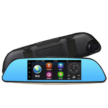 Big sale MALUOKASA 3G 7″ Car DVR Camera Android 5.0 wifi GPS Full HD 1080P Wifi Video Recorder Dual Lens Registrar Rear View Dash Cam