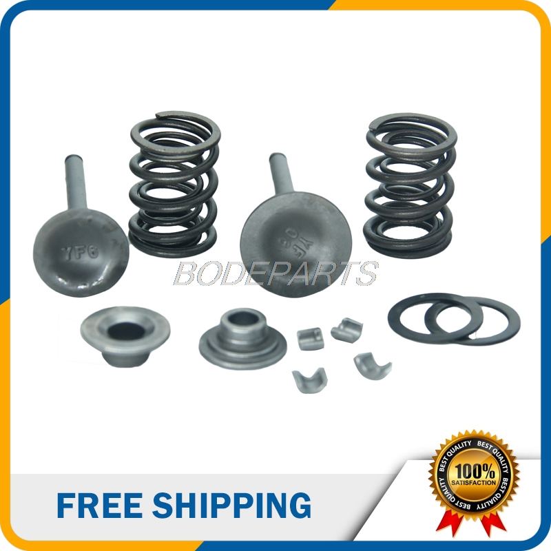 US $9 64 8% OFF|140cc Motorcycle Valves With Spring Pedestal Lock Clip For  Yinxiang 140cc Foot Start Electric Start Dirt Pit Bike Free Shipping-in