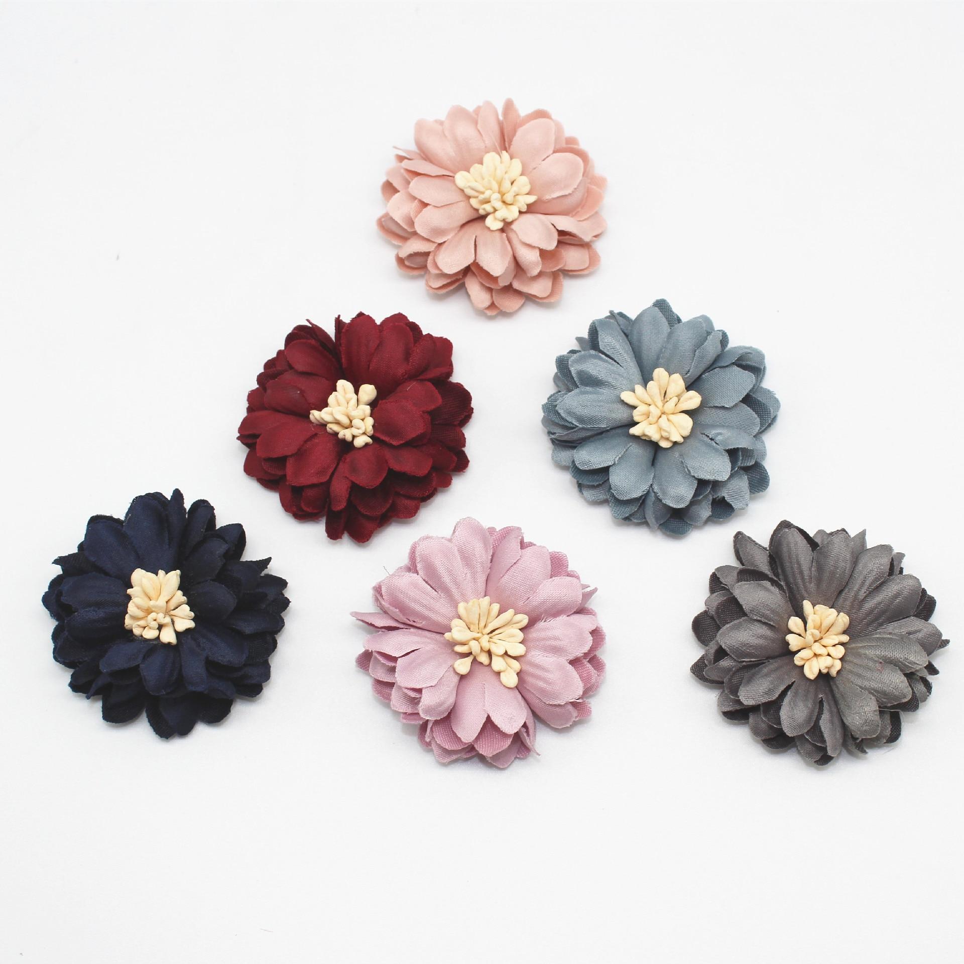 Korean Version Super-fibre Cloth DIY Handicraft Accessories Chrysanthemum Perianth Flowers