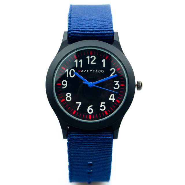 free shipping boys and girls blue strap nylon army watch best gift for child mid