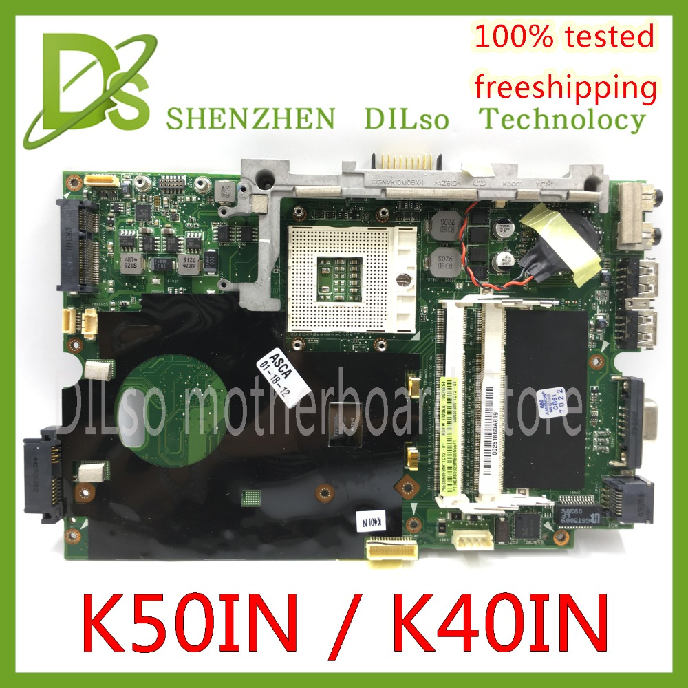 KEFU K40IN K50IN Motherboard For Asus X8AIN,X5DIN K40IP K50IP K40AB K50AB K40IJ Laptop Motherboard Test Mainrboard Work 100%