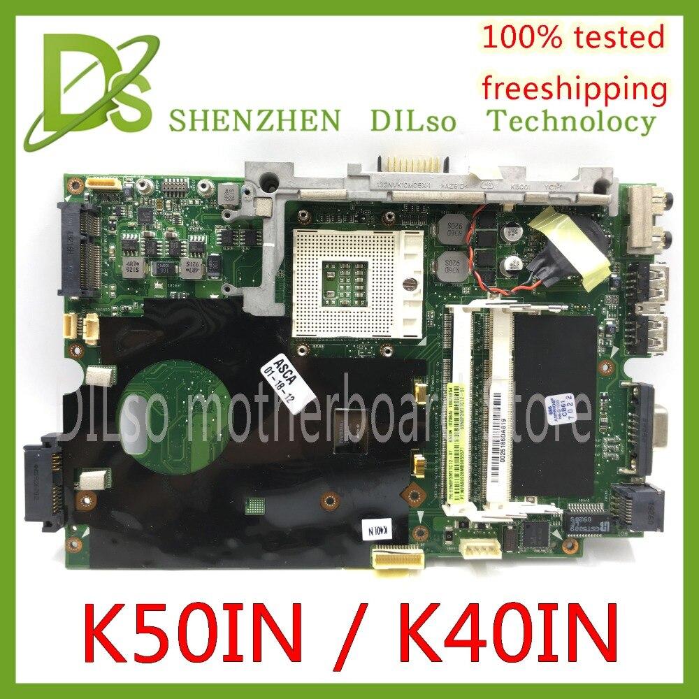 Kefu k40in k50in placa-mãe para asus x8ain, x5din k40ip k50ip k40ab k40ab k40ij portátil placa-mãe teste de trabalho 100%