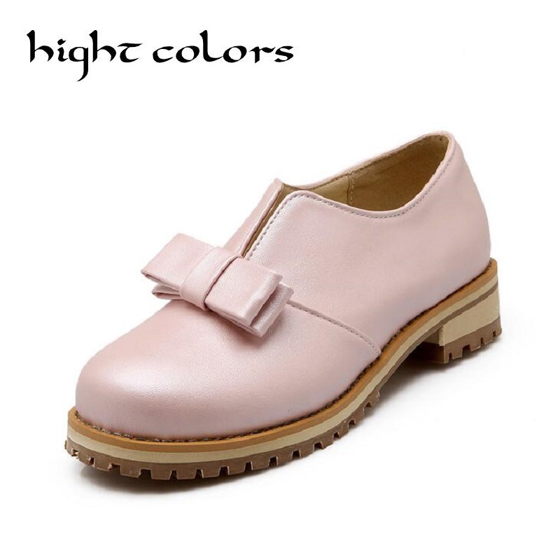 New Fashion Bow Shallow Mouth Slip-on Women Loafers Ladies Casual Flat Oxford Shoes Size 34-43 Women Flats Girls Shcool Shoes spring autumn women shoes fashion rhinestone slip on round toe flats shallow mouth mature shoes mary janes casual loafers shoes