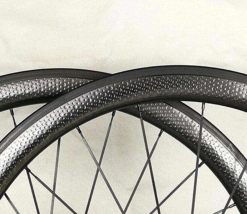 2018 Fast 700c 45mm road bike carbon wheels, dimple wheelset, basalt braking surface 25mm width 303 цены