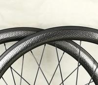 2018 Fast 700c 45mm road bike carbon wheels, dimple wheelset, basalt braking surface 25mm width 303