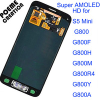 LCD Display Touch Screen Digitizer Assembly 100 Tetsed Super AMOLED For Samsung Galaxy S5 Mini G800