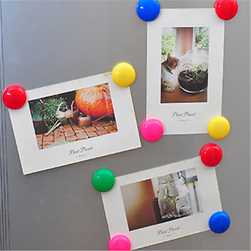 10Pcs/set Colorful Magnetic Whiteboard Circular Plastic Fridge Magnets Sticker Refrigerator Magnetic Nail Kids Gifts Home Decor