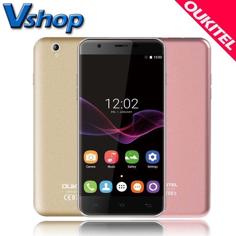 Original OUKITEL U7 MAX 3G Mobile Phones Android 7.0 1GB RAM 8GB ROM Quad Core Dual SIM Smartphone 13.0MP 5.5 inch Cell Phone FM