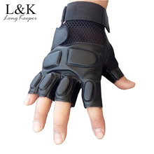 Glove Tactical Fingerless Mittens Latex Exercise Training Mens Cool Long-Keeper Guante