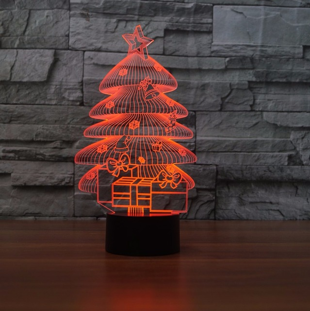 3d led table lamps christmas tree night lamp colors changd acrylic 3d led table lamps christmas tree night lamp colors changd acrylic light lifelike creative atmosphere lamp aloadofball Image collections