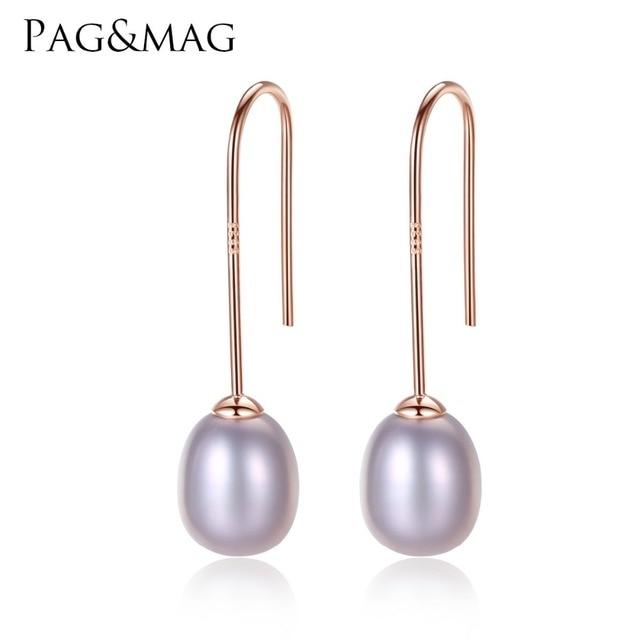 Earrings in Pearl on sterling silver hooks at20G