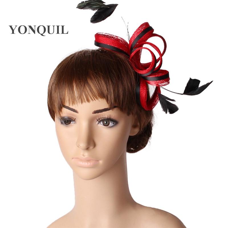 Белый и черный шляпки из соломки синамей с вуалеткой хорошее Свадебные шляпы высокого качества для женщин коктейльное шапки очень хорошее MYQ123