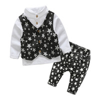 Boys Clothes Sets Formal Gentleman Suit 3Pcs/Set Children Clothing Set Kids Clothes for Baby Birthday Wedding Party
