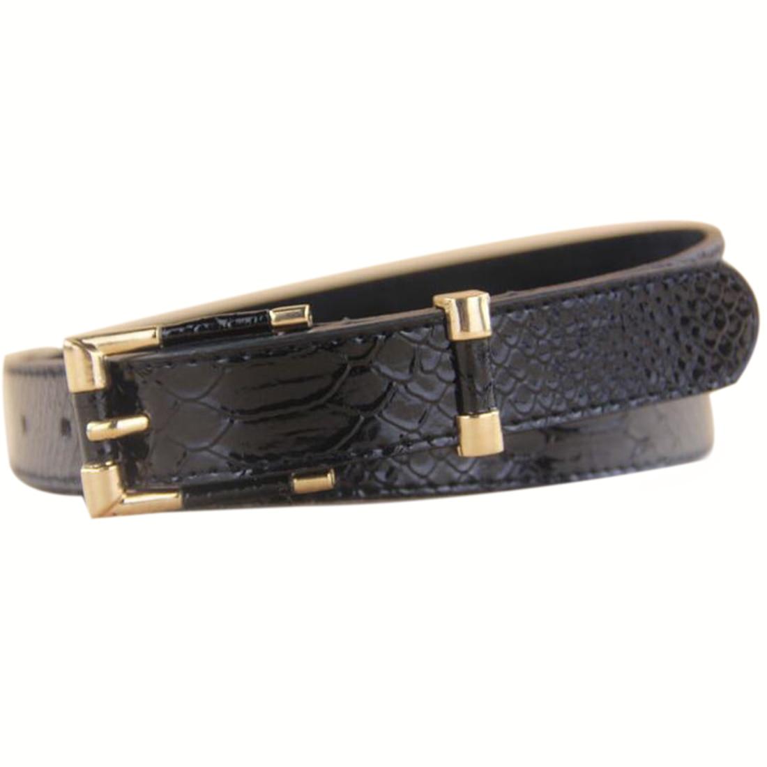 JIMMYHANK Women Belts Crocodile Punk Thin Waist Belt Black Red Trench Female Genuine Leather Strap Buckle Waistband