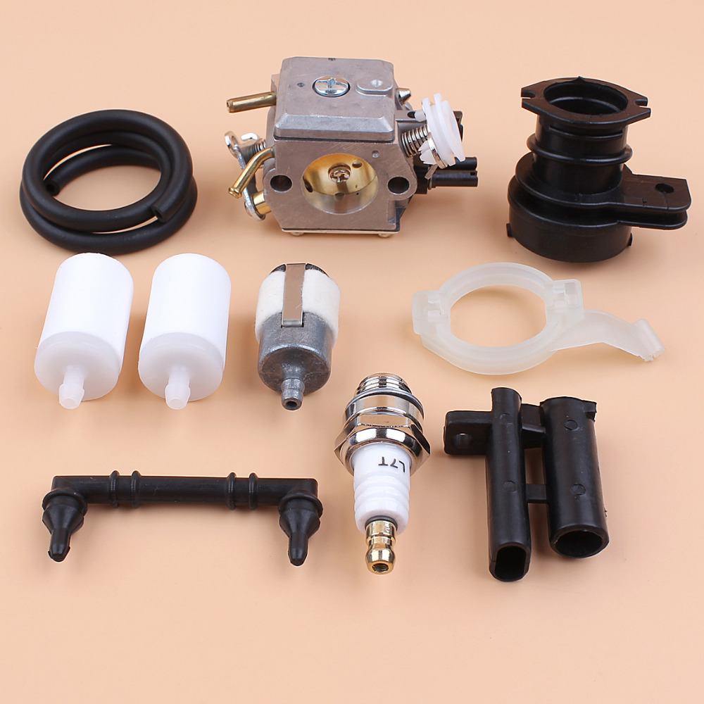 Carburetor Grommet Intake Manifold Fuel Filter Kit For Husqvarna 362 365 371 372 372XP Chainsaw Replace Walbro HD-12 HD-6 Carb plastic chainsaw recoil starter assembly rope for husqvarna 362 365 371 372 372xp chainsaw 503 62 82 02