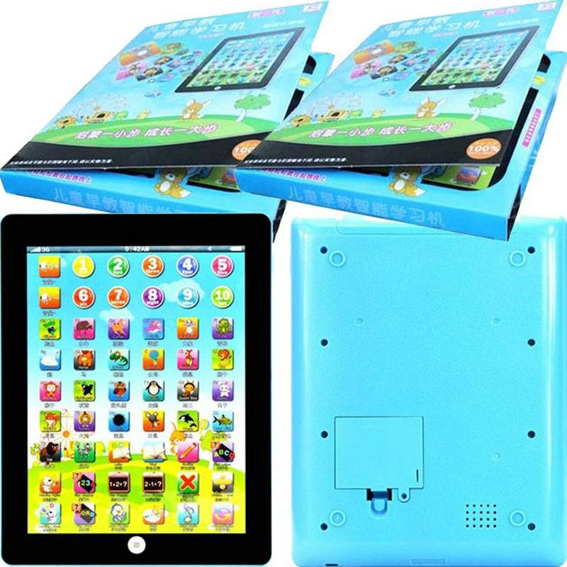 Novo Inglês aprendendo a leitura de crianças toque tablet máquina de primeira infância brinquedos educativos