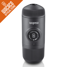 Wacaco Nanopresso Portable Espresso Machine, Upgrade Version of Minipresso, 18 Bar Pressure, Extra Small Travel Coffee Maker.