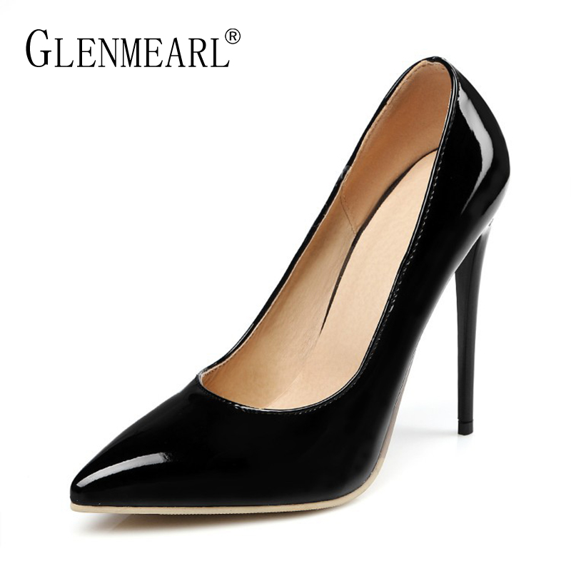 Sexy Women High Heels Shoes Woman Pumps Brand Spring Thin Heels Single Shoes Black Pointed Toe Wedding Pumps Women Large Size DE siketu 2017 free shipping spring and autumn women shoes fashion sex high heels shoes red wedding shoes pumps g107
