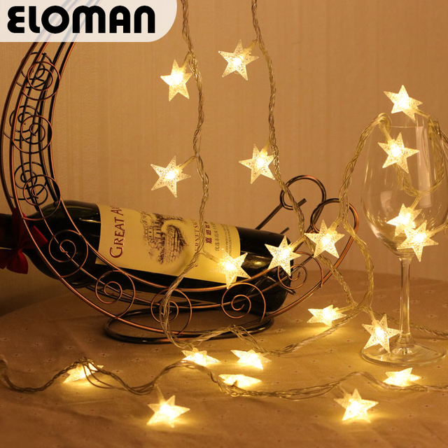Eloman 20 Star Led String Christmas Wedding Home Lights Decorations Party Light Supplies