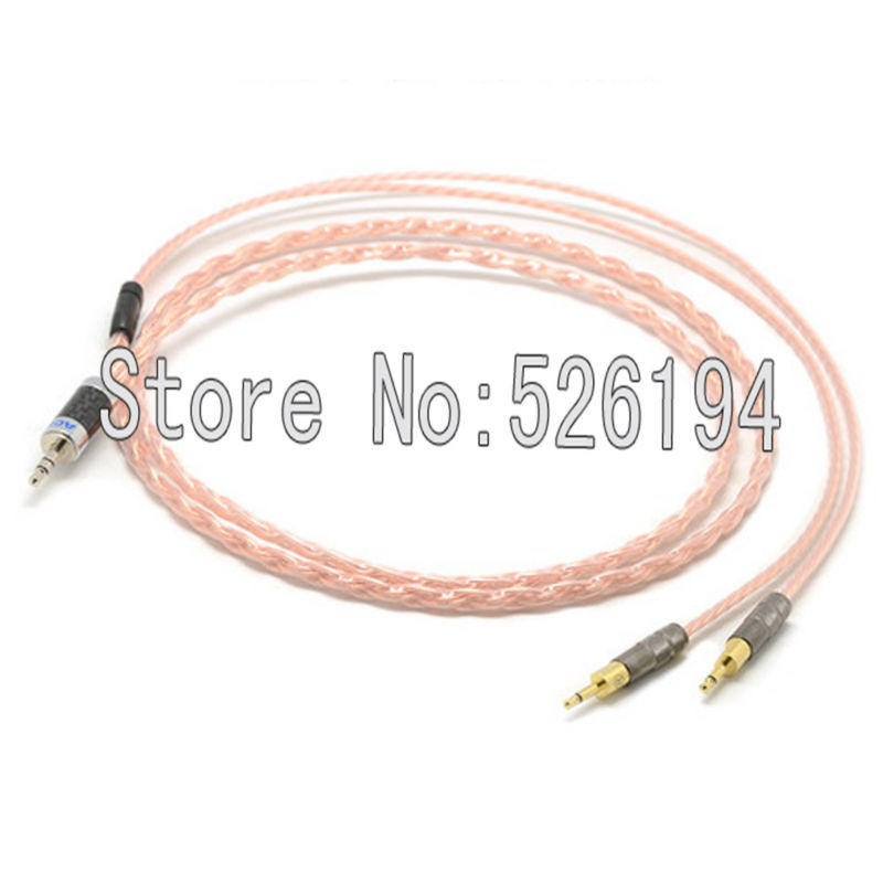 все цены на Free shipping 1.2Meter/pieces  5N OFC Copper Hifi DIY Cable For HD700 Headphone Earphone cable with Acrolink 3.5mm plugs онлайн