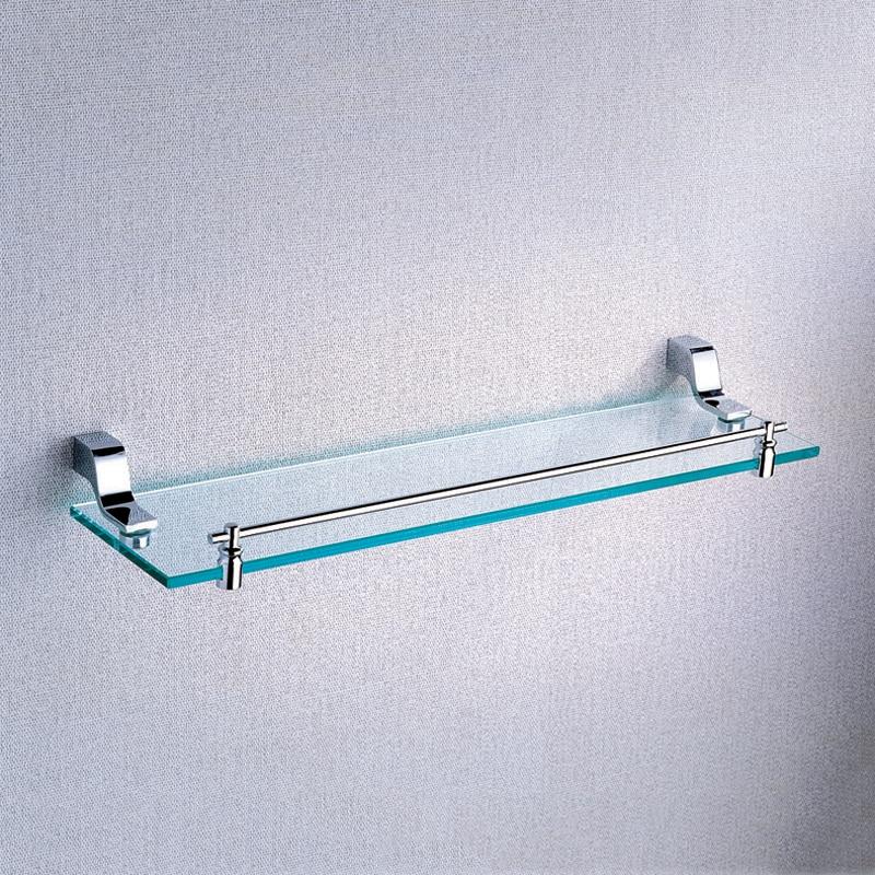 Single Glass Shelf Chrome Plated Brass Wall Mounted Antique Bath Decorative  Shower Soap And Shampoo Holder Rack Bathroom Shelves