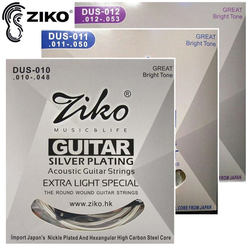 ZIKO DUS010-048 011-050 012-053 Acoustic guitar strings silver plating guitar parts 6 strings guitar Accessories original 10 1 inch lcd screen bp101wx1 400 free shipping