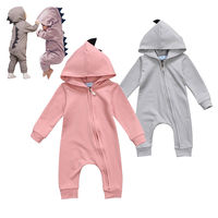 Baby Rompers Autumn Long Sleeve Newborn Baby Boy Girl Dinosaur Costume Romper Playsuit Baby Clothes Hooded