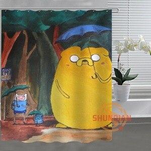 Image 5 - Занавеска для душа Ghibli Totoro, занавеска для ванной комнаты, декор для ванной комнаты, H03M26D37