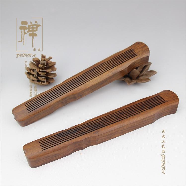 Zhengda African Rosewood Large Wooden Fu Xi Qin Line Incense Incense Box Ebony Wood Lying Incense Bag Mail